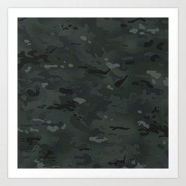Camouflage: Black Art Print