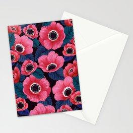 Midnight Poppy Field Stationery Cards