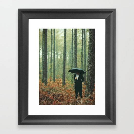 Trees In Suits Framed Art Print