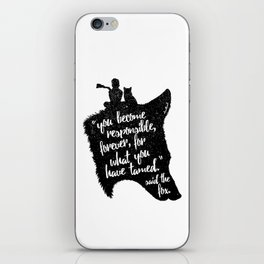 The Prince and the Fox iPhone Skin