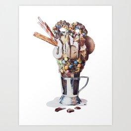 Bulking is a Feminist Act: Milkshake Art Print