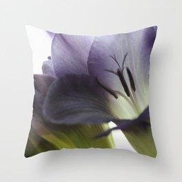 Freesia flowers Throw Pillow