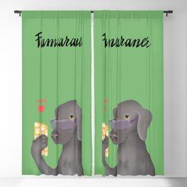 Famearaner (Green Background) Blackout Curtain