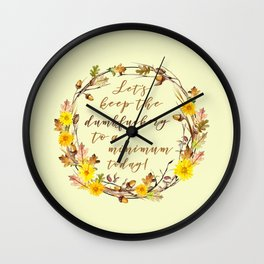 LET'S KEEP THE... Wall Clock