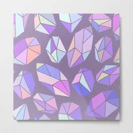 purple pink gem pattern Metal Print