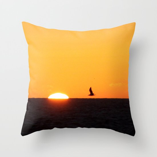 every moment is different, every sunset is unique... Throw Pillow