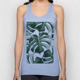 Tropical Monstera Leaves Dream #2 #tropical #decor #art #society6 Unisex Tank Top