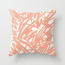 Scribble in pink Throw Pillow