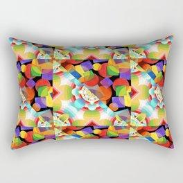 Prismatic Rainbow Rectangular Pillow