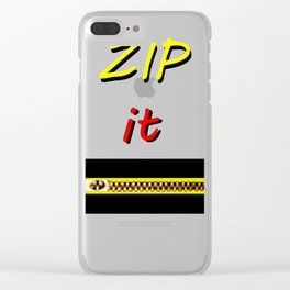 Zip it Black Yellow Red jGibney The MUSEUM Gifts Clear iPhone Case