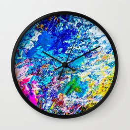 Art of color palette Wall Clock