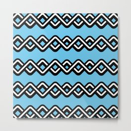 Digital weave Metal Print