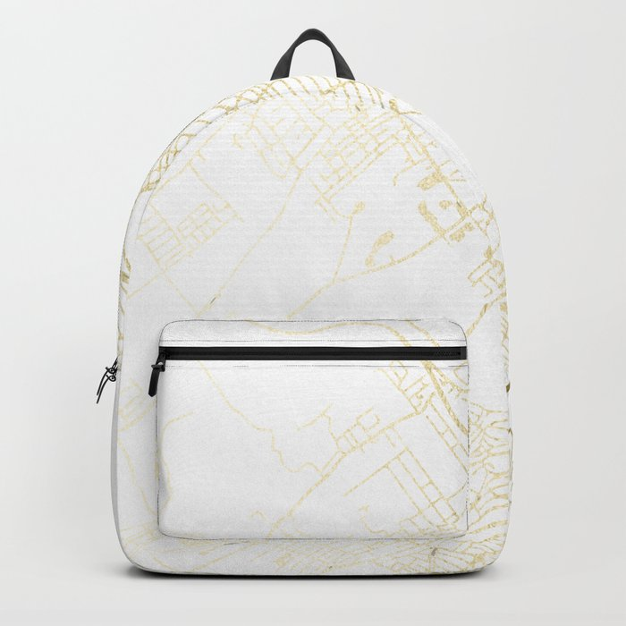 Wilkes-Barre Gold and White Map Backpack