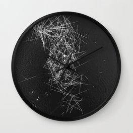 Brush Dust Star Symbol Wall Clock