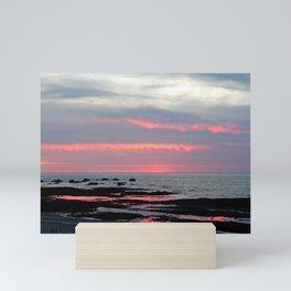 Texture Filled Clouds Mini Art Print