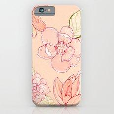 Summer flowers warm Slim Case iPhone 6s