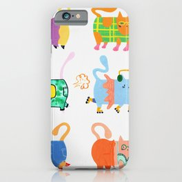 Fashion Cats - Rainbow Palette iPhone Case