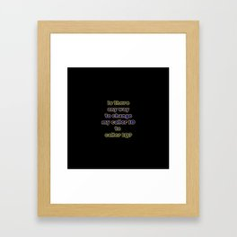 """Funny One-Liner """"Caller ID"""" Joke Framed Art Print"""