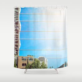 on reflection: bright. Shower Curtain