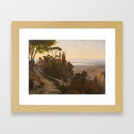 Oswald Achenbach, Italian Landscape Framed Art Print