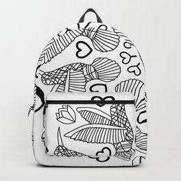 Hummingbirds mandala  Backpack