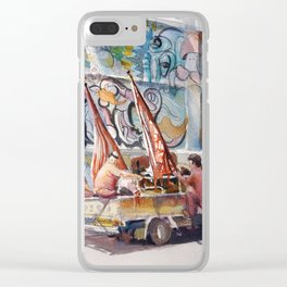 On to the next performance, Lion Dance troop, id190703 Clear iPhone Case