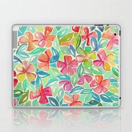 Tropical Floral Watercolor Painting Laptop & iPad Skin