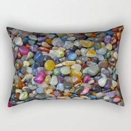 Colorful shiny pebbles Rectangular Pillow