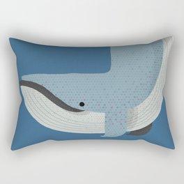 Whimsy Blue Whale Rectangular Pillow