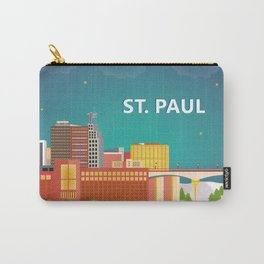 St. Paul, Minnesota - Skyline Illustration by Loose Petals Carry-All Pouch