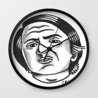 carl sagan Wall Clocks featuring Carl Sagan by @VEIGATATTOOER