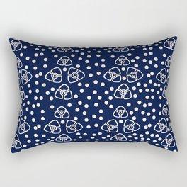 Vintage floral pattern 1920s Rectangular Pillow