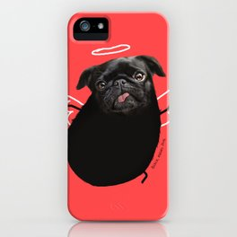 Black Angel Pug iPhone Case