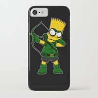 green arrow iPhone & iPod Cases featuring Arrow by Betmac