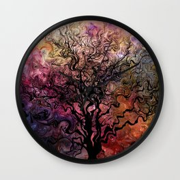 Van Goghs Orion Nebula by Barbara Chichester Wall Clock