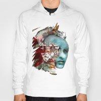mask Hoodies featuring Mask by Irmak Akcadogan