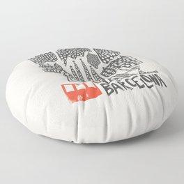 Barcelona Cityscape Floor Pillow