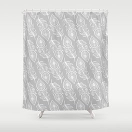 BOHEMIAN PEACOCK FEATHERS Shower Curtain