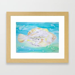 Fish Printwork Framed Art Print