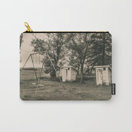Outhouses and Swingset at the Church, North Dakota 2 Carry-All Pouch