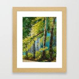 Woods Landscape Framed Art Print