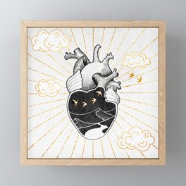 Desert Heart Inktober :: More Magick Framed Mini Art Print