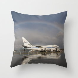 1389. NASA Armstrong Celebrates 70 Years of Flight Research Throw Pillow