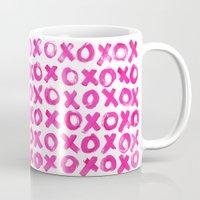 xoxo Mugs featuring XOXO by MADE BY GIRL