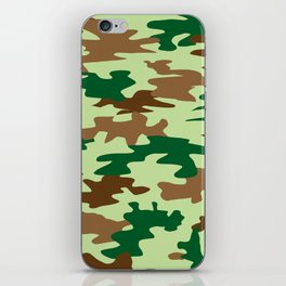 Camouflage Print Pattern - Greens & Browns iPhone Skin