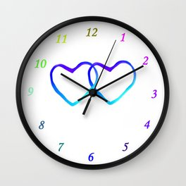 Blue Heart Wall Clock