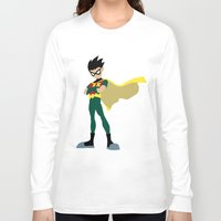 robin Long Sleeve T-shirts featuring Robin by karla estrada