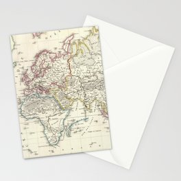 Vintage Map of The World (1816) Stationery Cards