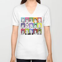 office V-neck T-shirts featuring The Office by turddemon