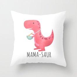 Mama-saur Throw Pillow